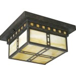 Arts And Crafts Ceiling Lighting Flush Mount