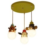 Giraffe Monkey Zebra Ceiling Light