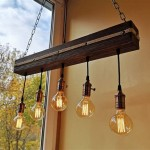 Reclaimed Wood Ceiling Light