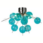 Teal Ceiling Light