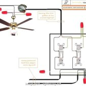 How To Wire A Ceiling Fan And Light On Two Switches