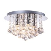 Modern Chrome Crystal Ceiling Light